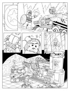 målarbok Avengers p6