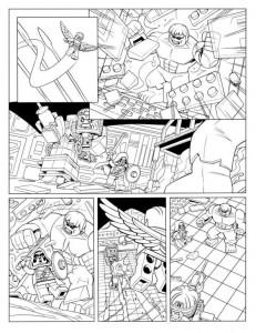 kleurplaat Avengers p8