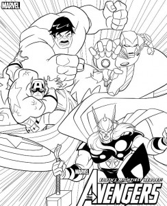 coloring page Avengers