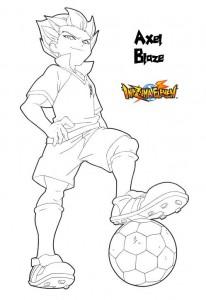 pagina da colorare Axel Blaze