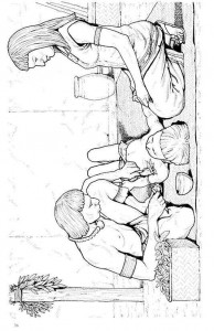 kleurplaat Azteken (3)