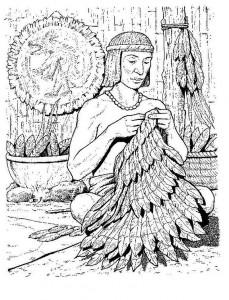 Malvorlage Azteken (6)