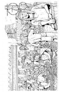 kleurplaat Azteken (8)