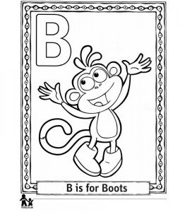 coloring page B Boots