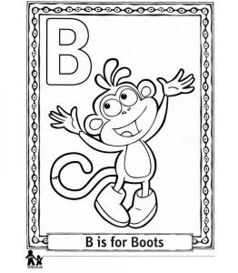 kleurplaat B Boots