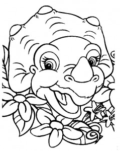coloring page Baby dinosaurer (12)