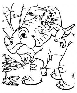 Dibujo para colorear dinosaurios bebé (15)