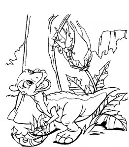 Dibujo para colorear dinosaurios bebé (2)