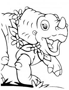 kleurplaat Baby dinosaurussen (3)
