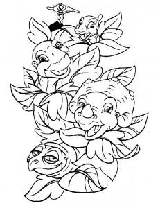 Dibujo para colorear dinosaurios bebé (5)