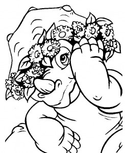 coloring page Baby dinosaurer (6)