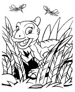 Dibujo para colorear dinosaurios bebé (9)