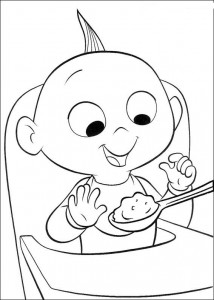 coloring page Baby Incredible
