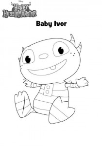 coloring page baby ivor