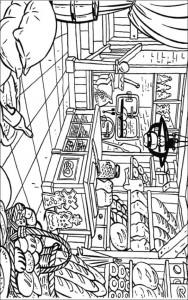 coloring page Bakker (13)
