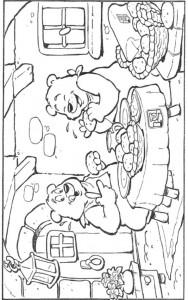 coloring page Bakker (15)