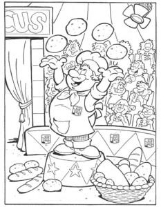 coloring page Bakker (16)