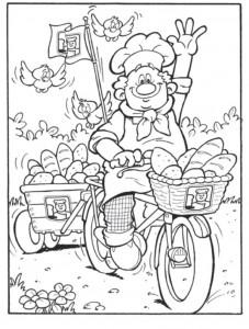coloring page Bakker (17)