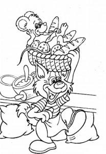 coloring page Bakker (4)