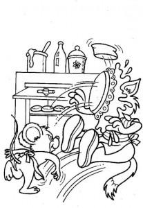 coloring page Bakker (7)