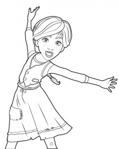 coloring page ballerina Félicie