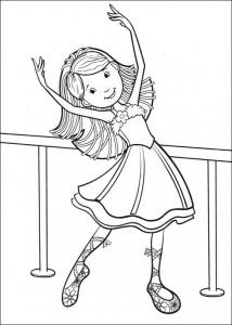 målarbok Balett