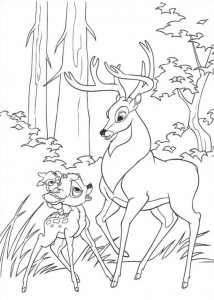coloring page Bambi and the Great Prince (2)