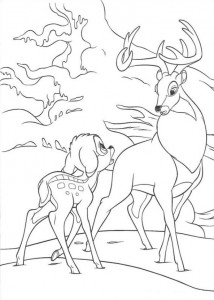 coloring page Bambi and the Great Prince (3)