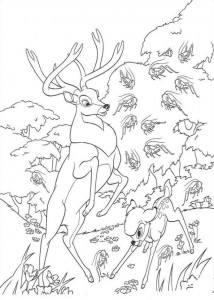 coloring page Bambi and his father (2)