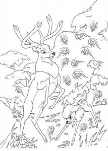 kleurplaat Bambi en zijn vader (2)