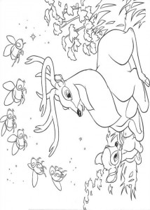 coloring page Bambi and his father