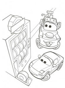 coloring page Tire machine