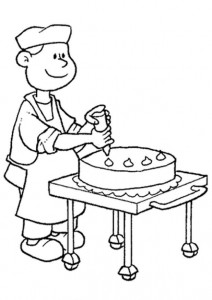 coloring page Confectioner