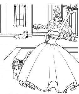 kleurplaat Barbi en de popster