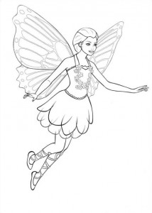 Coloriage Barbi Mariposa (1)