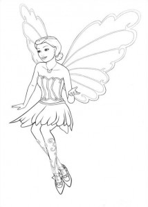 Coloriage Barbi Mariposa (11)