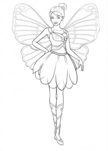 Coloriage Barbi Mariposa (4)