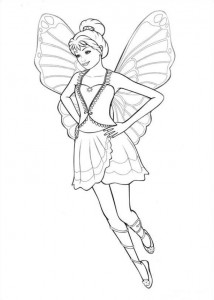 kleurplaat Barbi Mariposa (5)