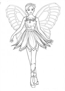 Coloriage Barbi Mariposa (9)
