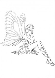 Coloriage Barbi Mariposa