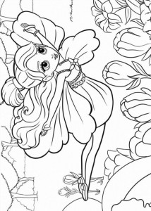 coloring page Barbie Thumbelina (17)