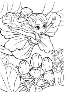 coloring page Barbie Thumbelina (2)