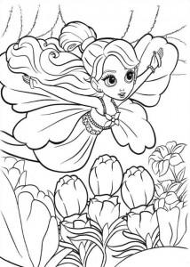 målarbok Barbie Thumbelina (2)
