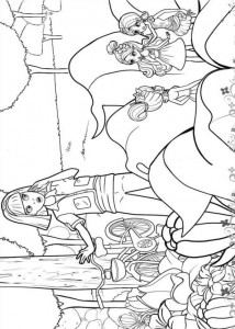 coloring page Barbie Thumbelina (4)