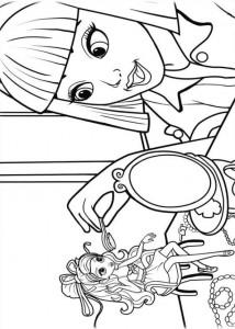 kleurplaat Barbie Duimelijntje (6)