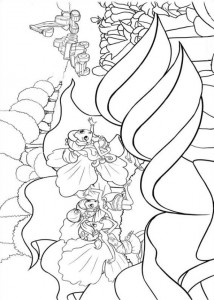 coloring page Barbie tommelen