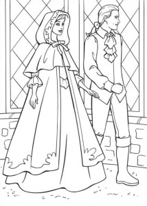 coloring page Barbie and the beggar (10)