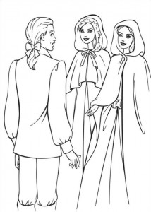 coloring page Barbie and the beggar (13)