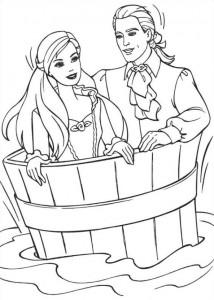 målarbok Barbie och tiggaren (19)