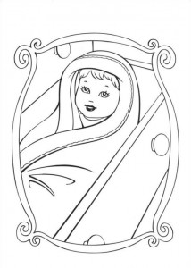 coloring page Barbie and the beggar (2)